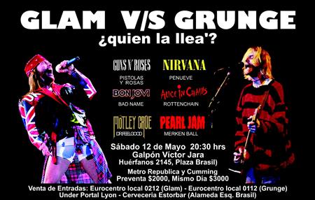 Grunge Vs. Glam – More Alike Than Not?